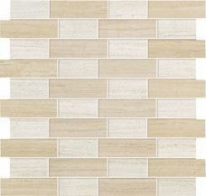 Sunrock Travertino Almond + White Mosaico Fabric