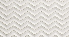 3D White Chevron Glitter Matt